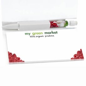 Sticky Note Booklets with Mini Flags and Pencil for Promotion