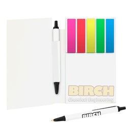 Personalized Sticky Note Booklets with Mini Flags and Pencil