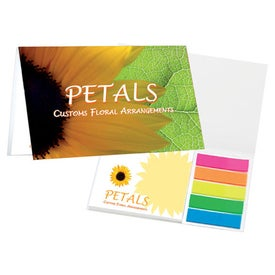 Customized Sticky Note Booklets with Mini Flags and Pencil
