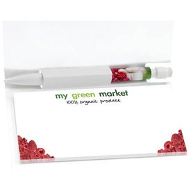 Imprinted Sticky Note Booklets with Mini BIC Clic Stic Pen