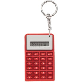 Imprinted Super Mini Flexi Calc Key Chain