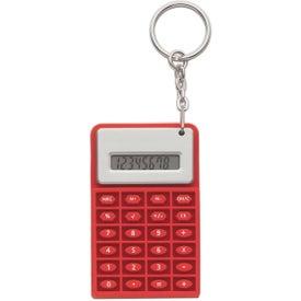 Imprinted Super Mini Flexi Calc Key Chain