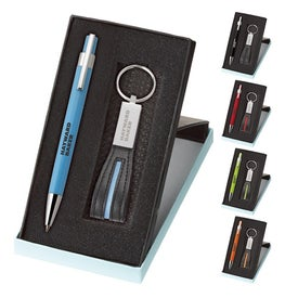 Tempest Ballpoint and Leather Key Ring Set