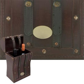 Tesoro II Wooden Double Wine Box Branded with Your Logo
