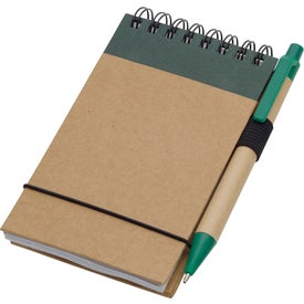 Monogrammed Recycled Jotter and Pen