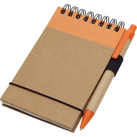 Recycled Jotter and Pen Imprinted with Your Logo