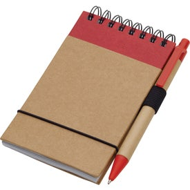 Recycled Jotter and Pen for your School
