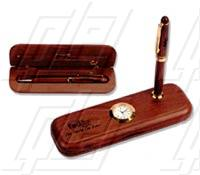 The Rosewood Pen & Clock Set