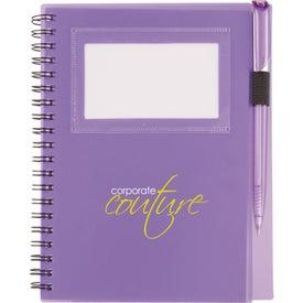 Imprinted Star Spiral Notebook