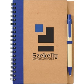 Personalized Eco Spiral Notebook and Pen