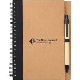 Logo Eco Spiral Notebook and Pen
