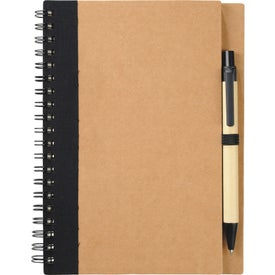 Custom Eco Spiral Notebook and Pen