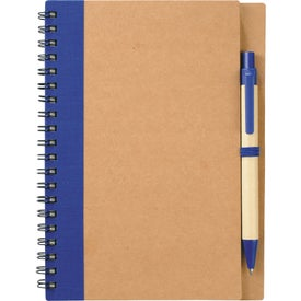 Eco Spiral Notebook and Pen Branded with Your Logo