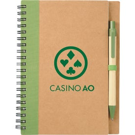 Eco Spiral Notebook and Pen for Customization