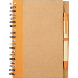 Branded Eco Spiral Notebook and Pen