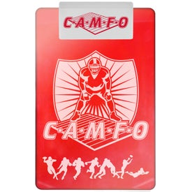 """Transparent Clipboard with 5 1/2"""" Jumbo Rectangle Clip for Promotion"""