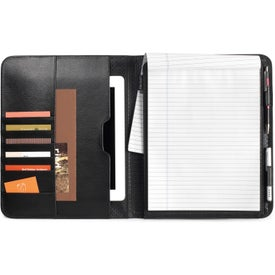 Imprinted Travis & Wells Leather E-Writing Pad