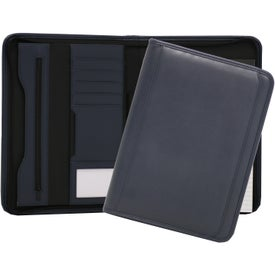 Smooth Tuscany Zippered Padfolio