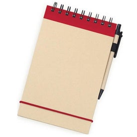 V Natural Kraft Steno with Pen for Your Organization