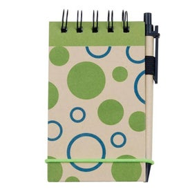 Advertising V Natural Kraft Geo Jotter with Pen