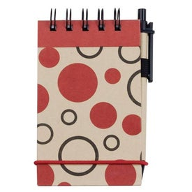 Printed V Natural Kraft Geo Jotter with Pen