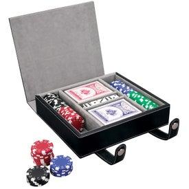 Branded Vallate Poker Set