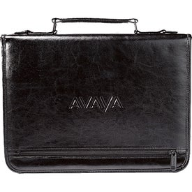 Vintage Leather Executive Ringfolio with Your Logo