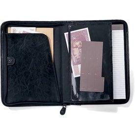 Branded Vintage Leather Quadrafold Padfolio