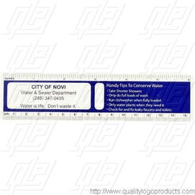 Water Conservation Ruler With Die Cut Drip Holes for Promotion