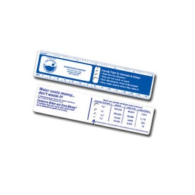 Water Conservation Ruler With Die Cut Drip Holes Printed with Your Logo