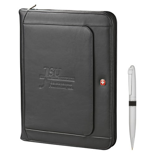 Wenger Exec Leather Zippered Padfolio Bundle Set ...