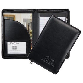 Wexford Jr. Leather Substitute Zippered Padfolio