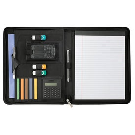 Wingtip Zippered Padfolio with Your Logo