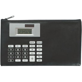 Advertising Zippered Case With Calculator