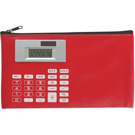 Zippered Case With Calculator for Marketing