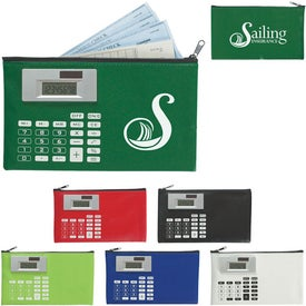 Customized Zippered Case With Calculator