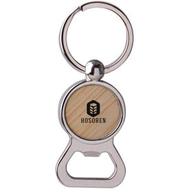 Bamboo Bottle Opener Keytag