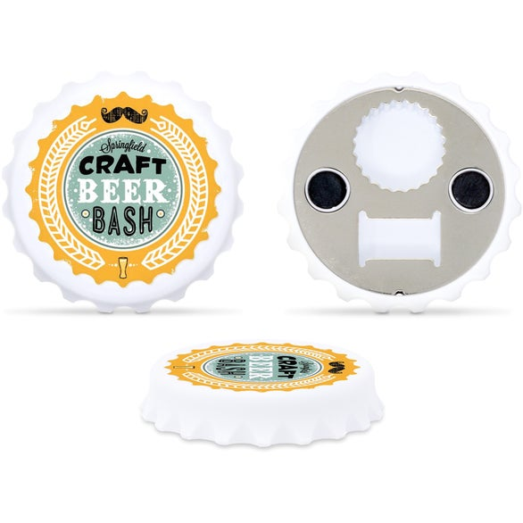 White Bottle Cap Shaped Bottle Opener