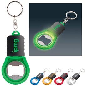 Monogrammed Bright Idea Bottle Opener Key Light