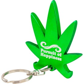 Cannabis Leaf Bottle Opener Keychain