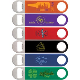 Color Wrapped Classic Paddle Bottle Openers