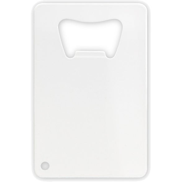 White Credit Card Bottle Opener