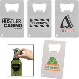 Credit Card Brushed Finish Bottle Openers