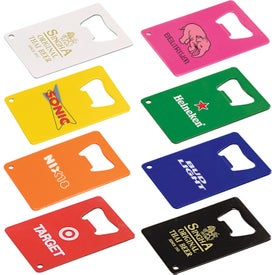 Credit Card Powder Coated Bottle Openers