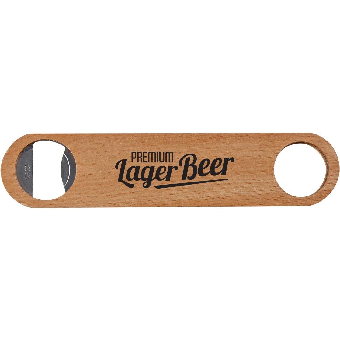 Large Wood Bottle Opener