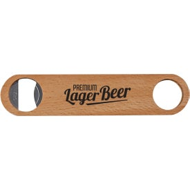 Large Wood Bottle Opener