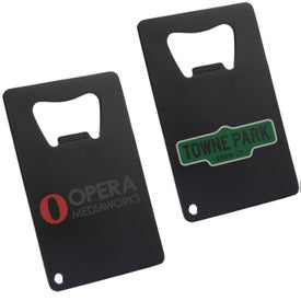 Matte Black Powder Coated Credit Card Bottle Opener
