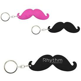 Mustache Bottle Opener Keychain
