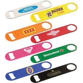 Paddle Style Powder Coated Steel Bottle Openers
