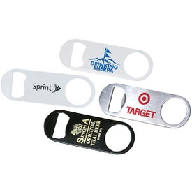 Short Paddle Style Stainless Steel Bottle Opener